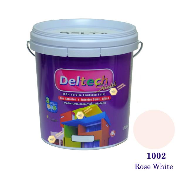 Deltech สีน้ำอะครีลิคกึ่งเงา SG-1002 Rose White-5gl.