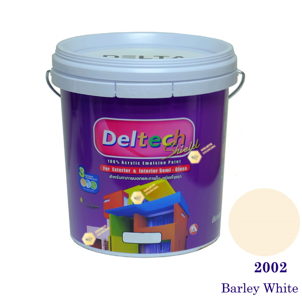 Deltech สีน้ำอะครีลิคกึ่งเงา SG-2002 Barley White-5gl.