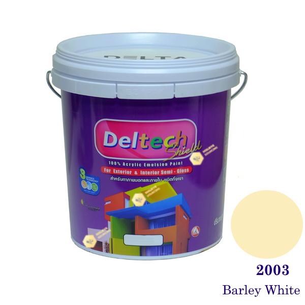 Deltech สีน้ำอะครีลิคกึ่งเงา SG-2003 Barley White-5gl.