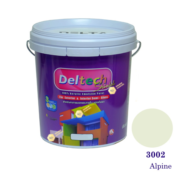 Deltech สีน้ำอะครีลิคกึ่งเงา SG-3002 Alpine-5gl.
