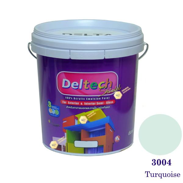 Deltech สีน้ำอะครีลิคกึ่งเงา SG-3004 Turquoise-5gl.