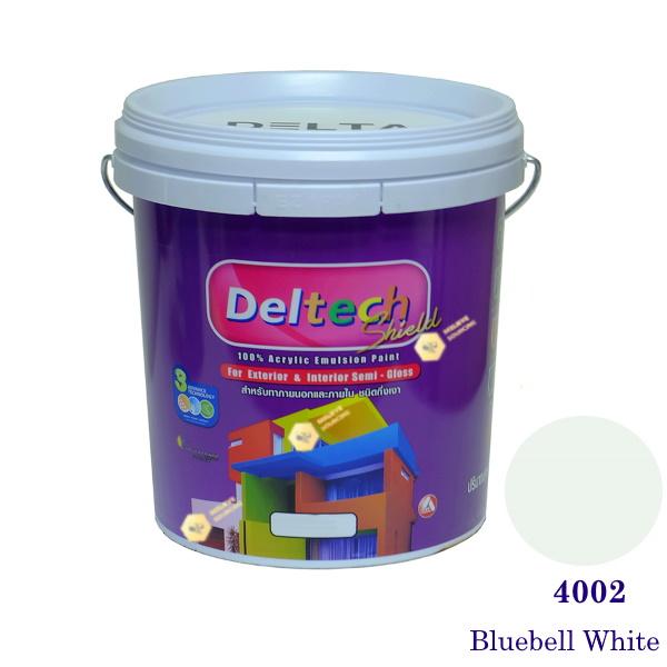 Deltech สีน้ำอะครีลิคกึ่งเงา SG-4002 Bluebell White-5gl.