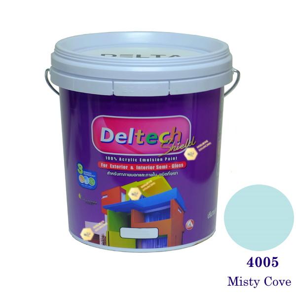 Deltech สีน้ำอะครีลิคกึ่งเงา SG-4005 Misty Cove-5gl.