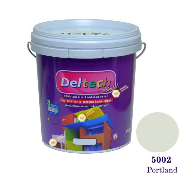 Deltech สีน้ำอะครีลิคกึ่งเงา SG-5002 Portland-5gl.