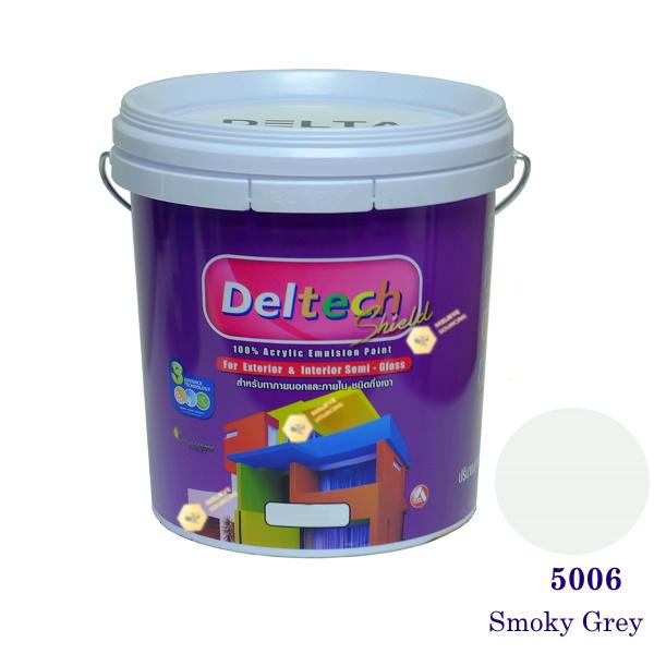 Deltech สีน้ำอะครีลิคกึ่งเงา SG-5006 Smoky Grey-5 gl