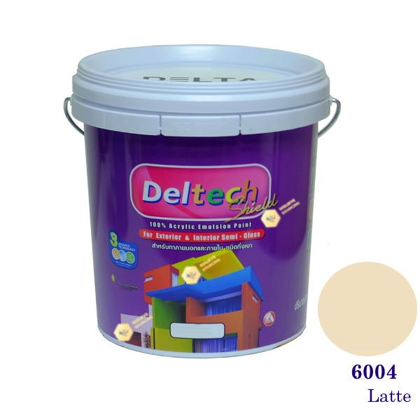 Deltech สีน้ำอะครีลิคกึ่งเงา SG-6004 Snow Peach-5gl.