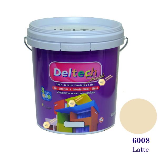 Deltech สีน้ำอะครีลิคกึ่งเงา SG-6008 Latte-5gl.