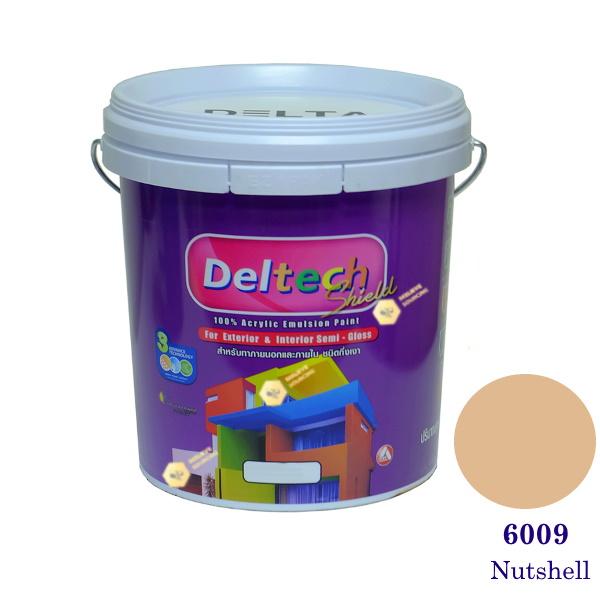 Deltech สีน้ำอะครีลิคกึ่งเงา SG-6009 Nutshell-5gl.