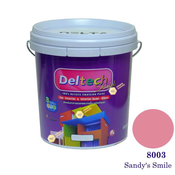 Deltech สีน้ำอะครีลิคกึ่งเงา SG-8003 Sandy's Smile-L (สีเข้ม)