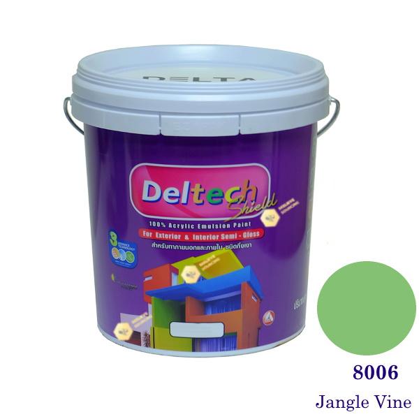 Deltech สีน้ำอะครีลิคกึ่งเงา SG-8006 Jangle Vine-L (สีเข้ม)