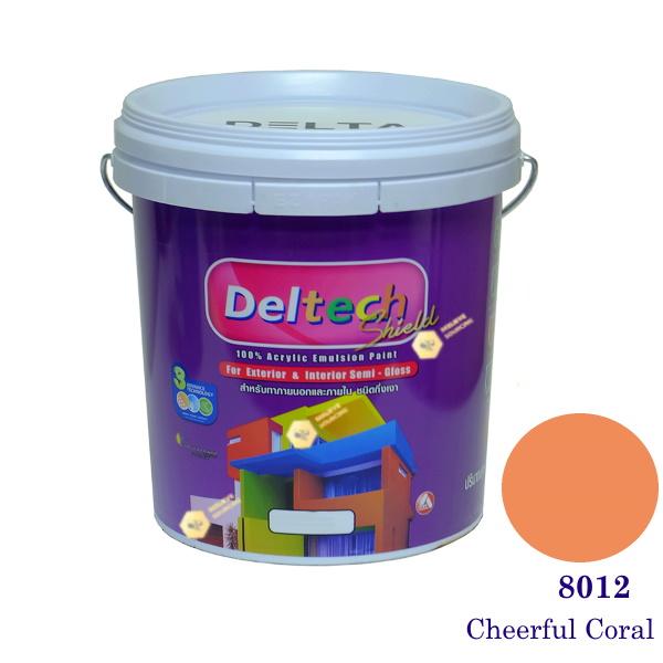 Deltech สีน้ำอะครีลิคกึ่งเงา SG-8012 Cheerful Coral-L (สีเข้ม)