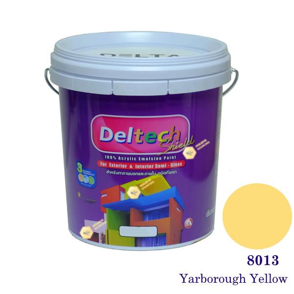 Deltech สีน้ำอะครีลิคกึ่งเงา SG-8013 Yarborough Yellow-L (สีเข้ม)