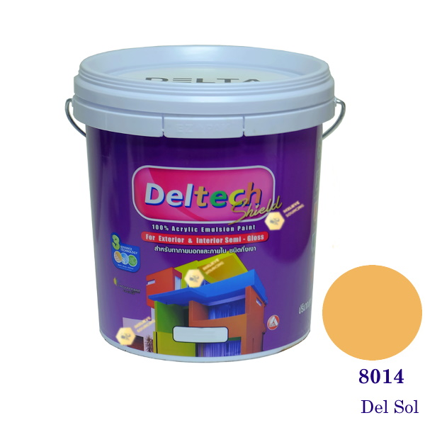 Deltech สีน้ำอะครีลิคกึ่งเงา SG-8014 Del Sol-L (สีเข้ม)