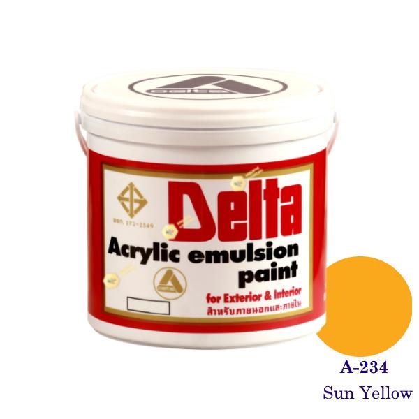 เดลต้า แม่สีน้ำภายนอก A-234 Sun Yellow 1gl.