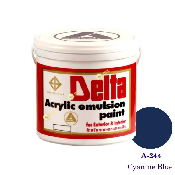 เดลต้า แม่สีน้ำภายนอก A-244 Cyanine Blue 1gl.