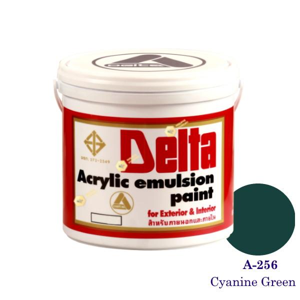 เดลต้า แม่สีน้ำภายนอก A-256 Cyanine Green 1gl.