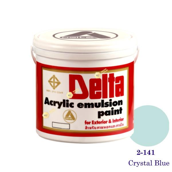 เดลต้า สีน้ำอะครีลิคภายนอก 2-141 Crystal Blue 1gl.