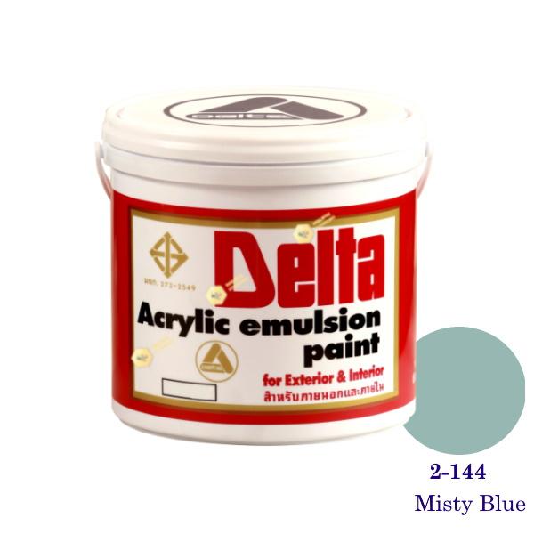 เดลต้า สีน้ำอะครีลิคภายนอก 2-144 Misty Blue 1gl.
