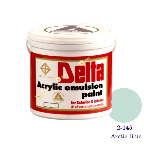 เดลต้า สีน้ำอะครีลิคภายนอก 2-145 Arctic Blue 1gl.
