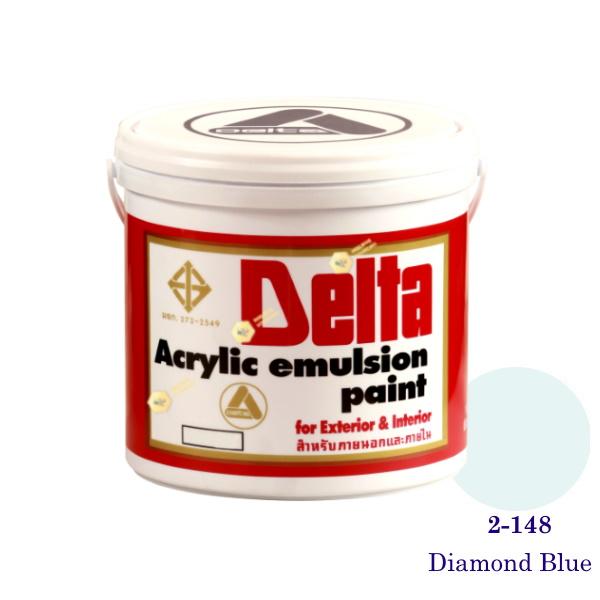 เดลต้า สีน้ำอะครีลิคภายนอก 2-148 Diamond Blue 1gl.
