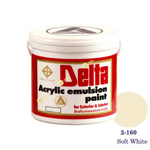 เดลต้า สีน้ำอะครีลิคภายนอก 2-160 Soft White 1gl.