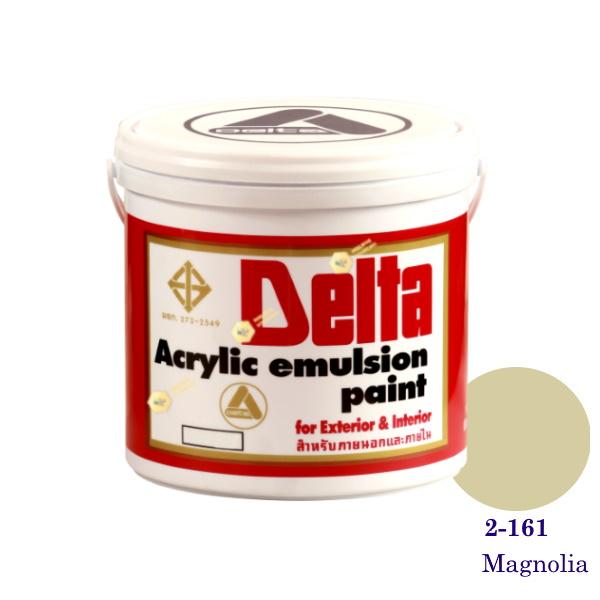 เดลต้า สีน้ำอะครีลิคภายนอก 2-161 Magnolia 1gl.