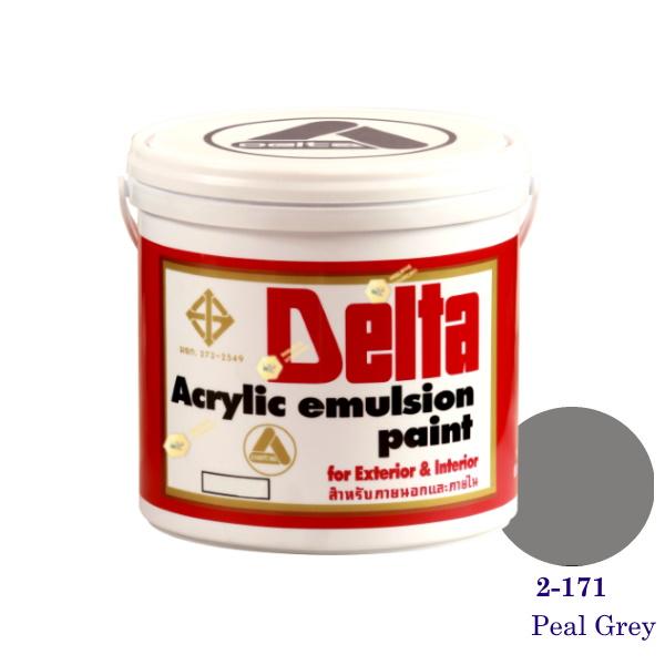 เดลต้า สีน้ำอะครีลิคภายนอก 2-171 Peal Grey 1gl.