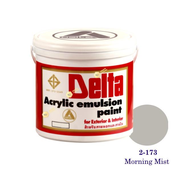 เดลต้า สีน้ำอะครีลิคภายนอก 2-173 Morning Mist 1gl.
