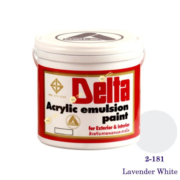 เดลต้า สีน้ำอะครีลิคภายนอก 2-181 Lavender White 1gl.