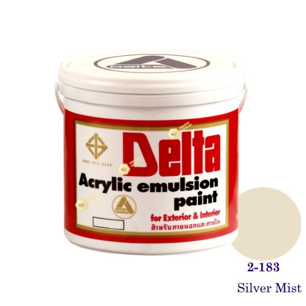 เดลต้า สีน้ำอะครีลิคภายนอก 2-183 Silver Mist 1gl.