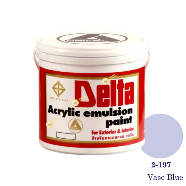 เดลต้า สีน้ำอะครีลิคภายนอก 2-197 Vase Blue 1gl.