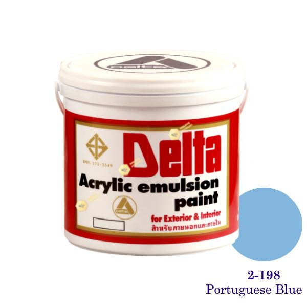 เดลต้า สีน้ำอะครีลิคภายนอก 2-198 Portuguese Blue 1gl.