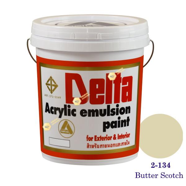 เดลต้า สีน้ำอะครีลิคภายนอก 2-134 Butter Scotch 5gl.