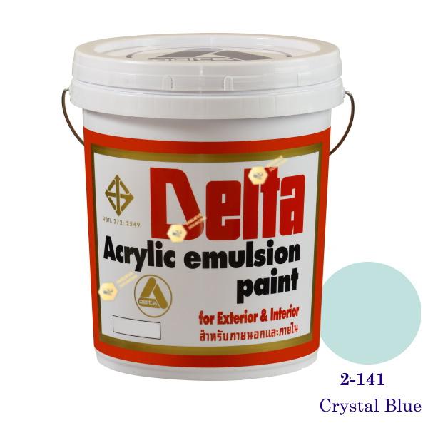 เดลต้า สีน้ำอะครีลิคภายนอก 2-141 Crystal Blue 5gl.