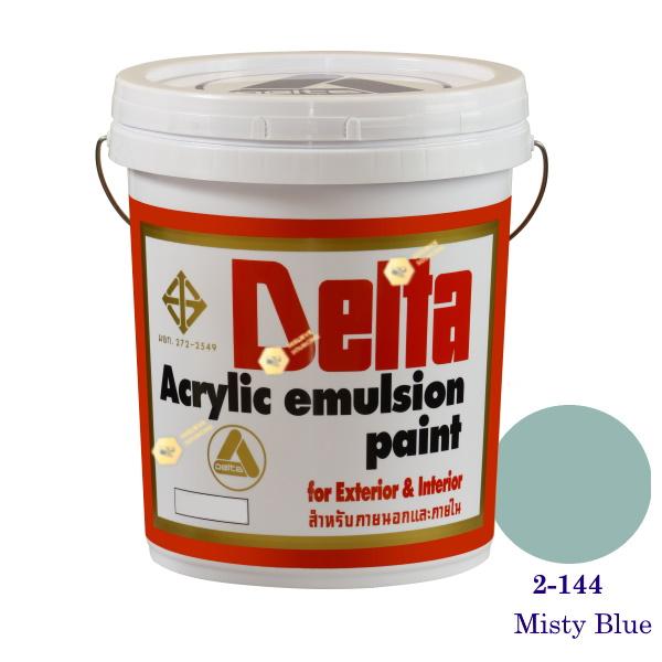 เดลต้า สีน้ำอะครีลิคภายนอก 2-144 Misty Blue 5gl.