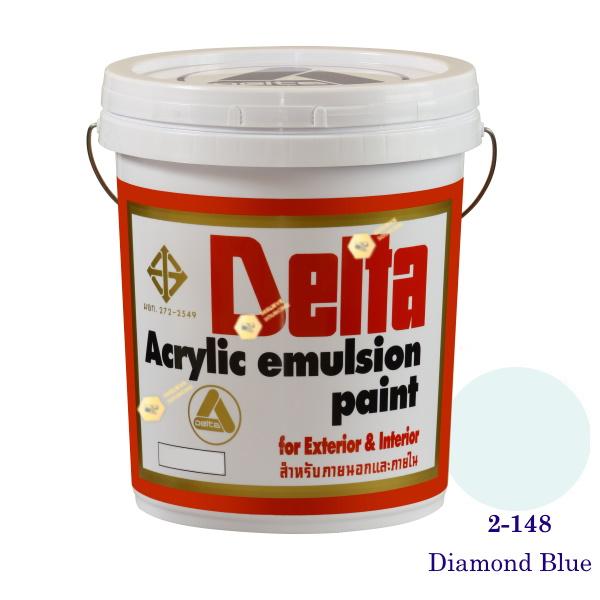 เดลต้า สีน้ำอะครีลิคภายนอก 2-148 Diamond Blue 5gl.