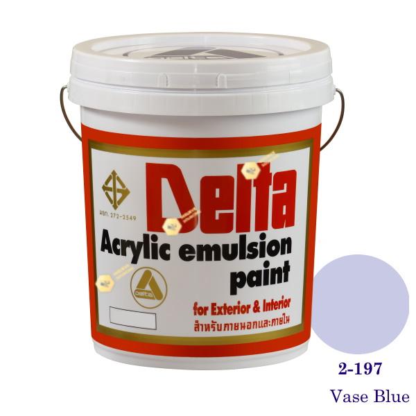 เดลต้า สีน้ำอะครีลิคภายนอก 2-197 Vase Blue 5gl.