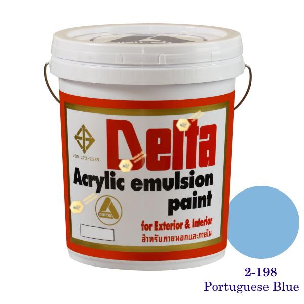 เดลต้า สีน้ำอะครีลิคภายนอก 2-198 Portuguese Blue 5gl.