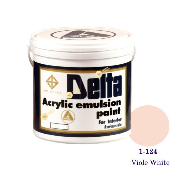 เดลต้า สีน้ำอะครีลิคภายใน 1-124 Viole White 1gl.