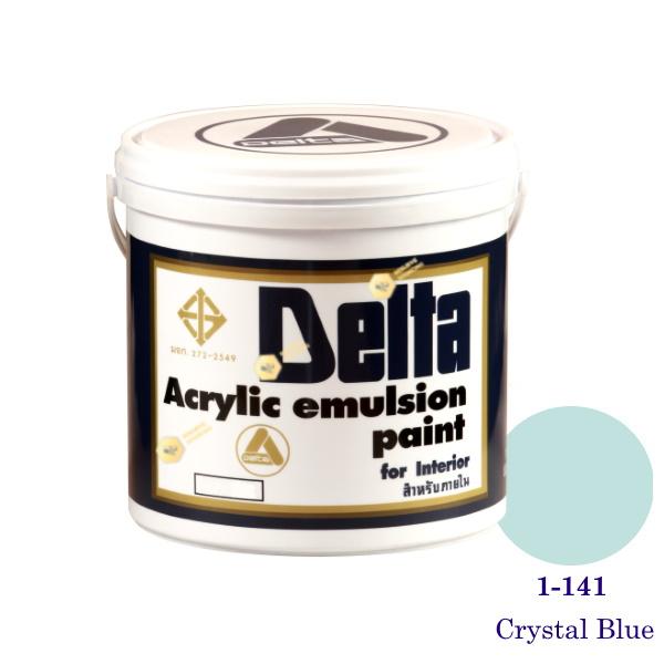 เดลต้า สีน้ำอะครีลิคภายใน 1-141 Crystal Blue 1gl.