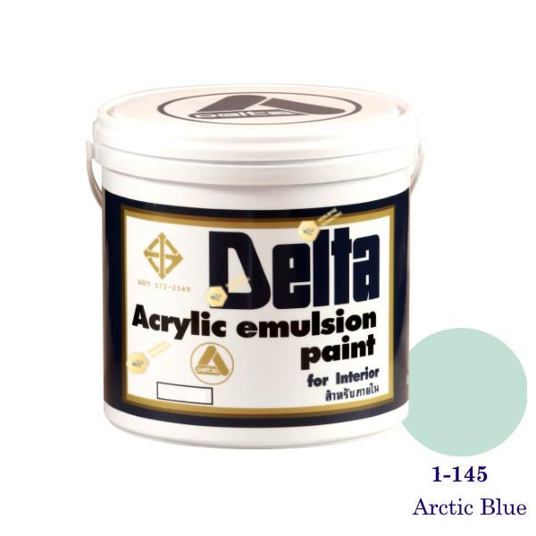 เดลต้า สีน้ำอะครีลิคภายใน 1-145 Arctic Blue 1gl.