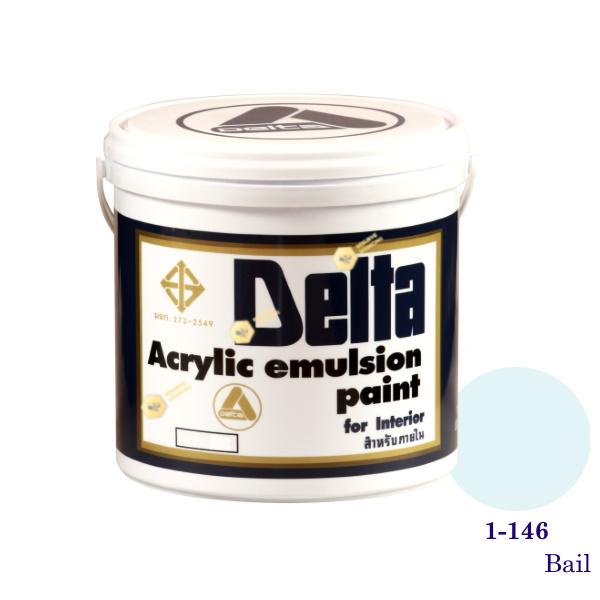 เดลต้า สีน้ำอะครีลิคภายใน 1-146 Bail 1gl.