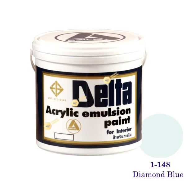 เดลต้า สีน้ำอะครีลิคภายใน 1-148 Diamond Blue 1gl.