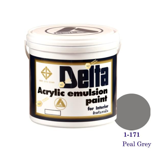 เดลต้า สีน้ำอะครีลิคภายใน 1-171 Peal Grey 1gl.