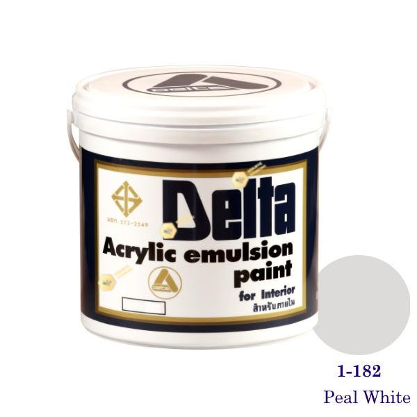 เดลต้า สีน้ำอะครีลิคภายใน 1-182 Peal White 1gl.