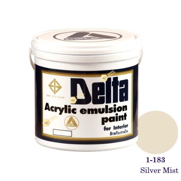 เดลต้า สีน้ำอะครีลิคภายใน 1-183 Silver Mist 1gl.