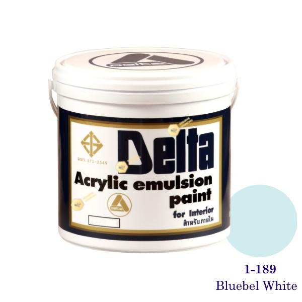 เดลต้า สีน้ำอะครีลิคภายใน 1-189 Bluebel White 1gl.