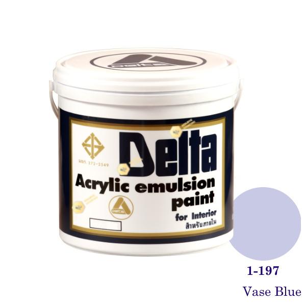 เดลต้า สีน้ำอะครีลิคภายใน 1-197 Vase Blue 1gl.