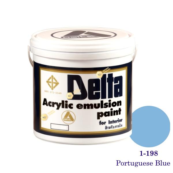 เดลต้า สีน้ำอะครีลิคภายใน 1-198 Portuguese Blue 1gl.