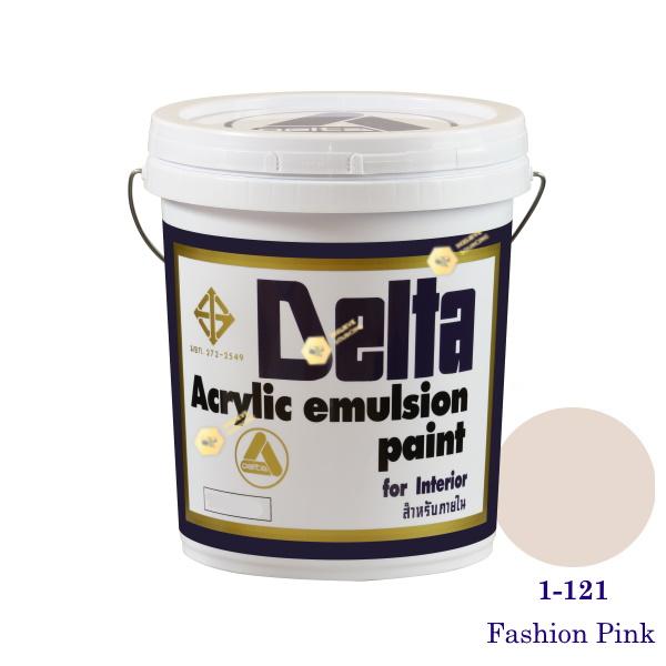 เดลต้า สีน้ำอะครีลิคภายใน 1-121 Fashion Pink 5gl.